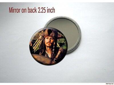 PIRATES OF THE CARIBBEAN Jack Sparrow Johnny Depp Pocket /Purse Mirror  Jack Sparrow Make-up