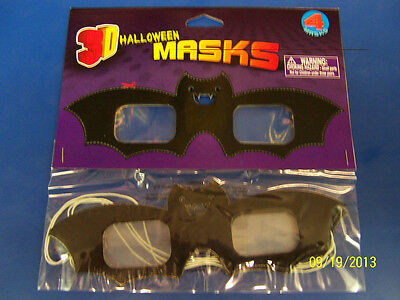 Cloak & Bats Black Halloween Holiday Theme Birthday Party Favor Paper 3D Glasses (Halloween Birthday Theme)