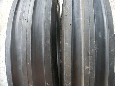 Two 650x16 650-16 6.50-16 Farmall 756 3 Rib Front Tractor Tires With Tubes