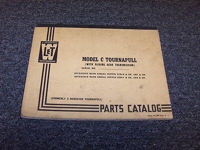 Letourneau Westinghouse Model C Tournapull Factory Original Parts Catalog Manual