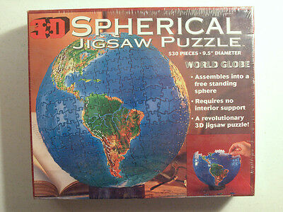 Buffalo Games 3D Spherical Jigsaw Puzzle WORLD GLOBE 530 pieces New in Box