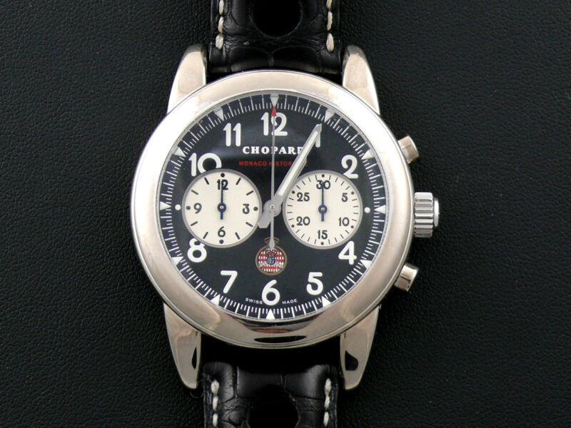 Chopard 18K Grand Prix Monaco Historique  DRIVER WORN Chronograph With EXTRAS!!