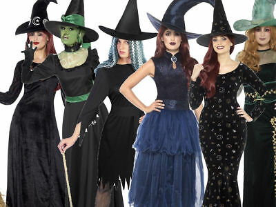 Ladies Adult Witch Halloween Witches Fancy Dress Costume New Outfit UK 8-18 ()