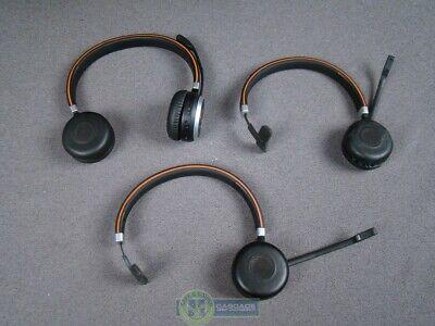 Lot of Three Jabra Evolve 65 Stereo/Mono Wireless Bluetooth Headsets HSC018W