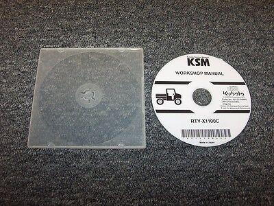 Kubota Rtv-x1100c Tractor Utility Vehicle Utv Shop Service Repair Manual Dvd