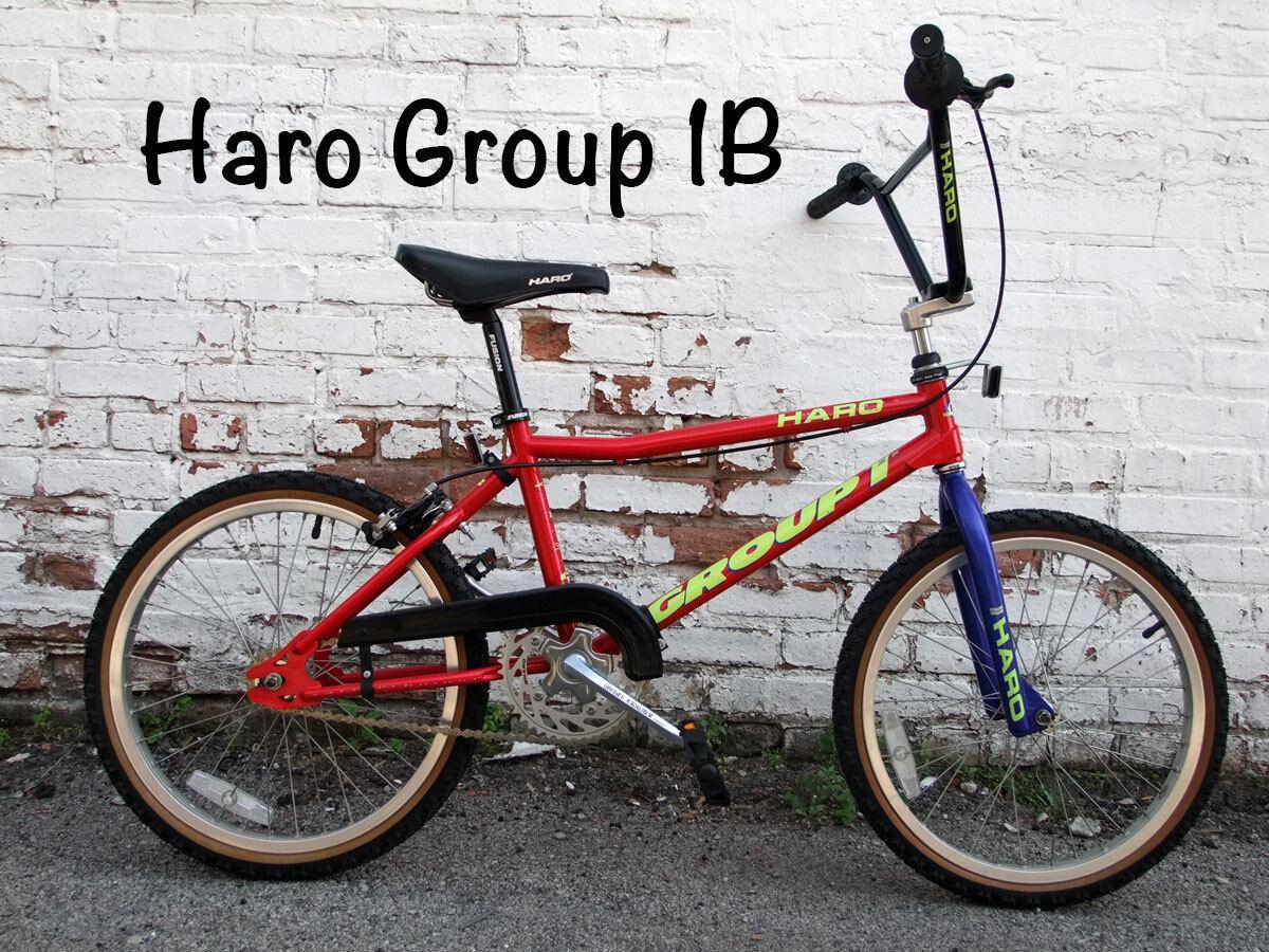 Old School Early 1992 Haro Group 1 Series B racing BMX Bike, NOS Original