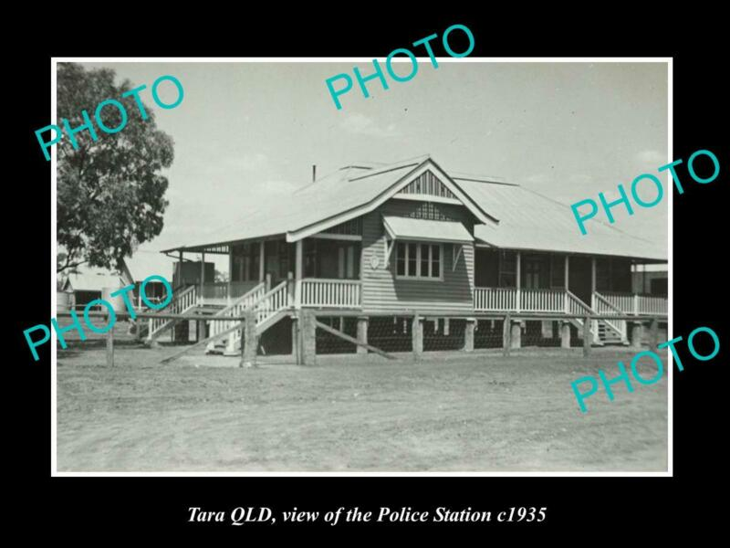 OLD 8x6 HISTORIC PHOTO OF TARA QLD VIEW OF THE POLICE STATION c1935