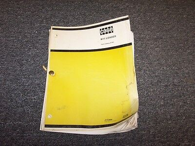Case W11 Articulated Front End Wheel Loader Tractor Parts Catalog Manual Book