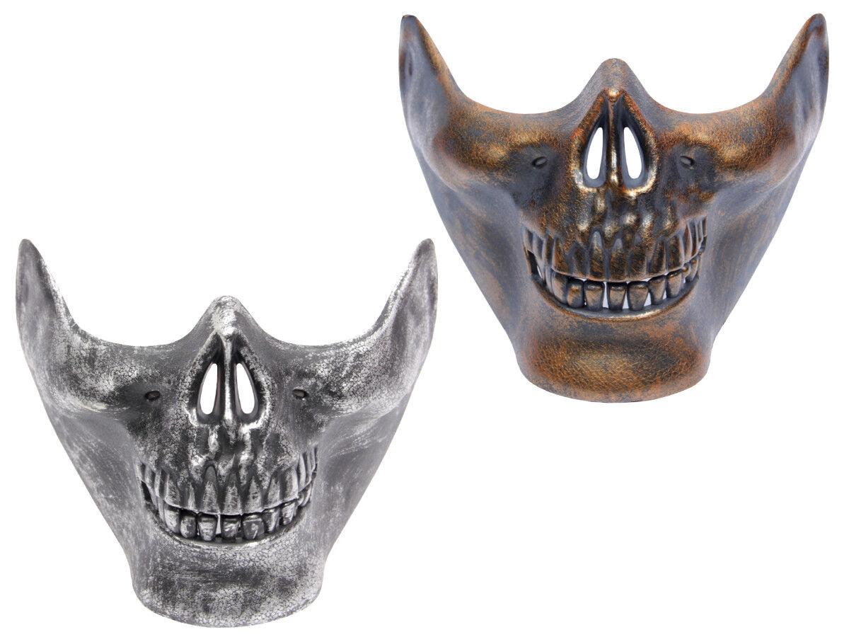 Halloween Maske Halbmaske Freaky Totenkopf Spooky Horror Gruselmaske