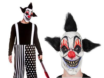 Herren Böser Hofnarr Kostüm Böser Clown Outfit Halloween Kostüm + Maske ()