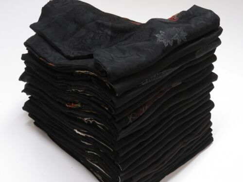 10HB21z1170 Japanese Kimono silk BLACK HAORI 20pcs Air mail free shipping