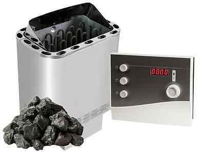 SET Nordex Next Stufa sauna 4,5 / 6 / 8 / 9 kW + Comando sauna + Pietre sauna