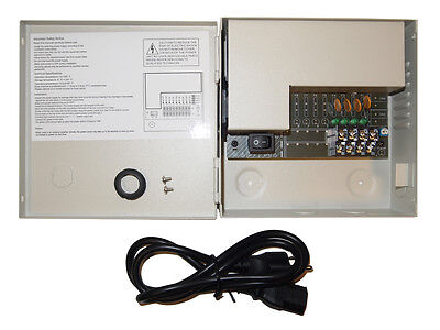4 Ch Channel Power Box 3 Amp Ampere PTC FUSE,CCTV,DVR 12V DC Power Supply Box