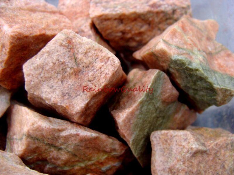 UNAKITE Rough Rocks - 1 Lb Lots - Perfect size for Tumbler - Epidote Feldspar