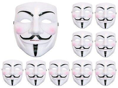 Lot de 10 Masque V vendetta Anonymous anonyme  horreur diable fantôme Mas-05