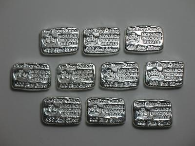 1 oz Silver Hand Poured Bar - Monarch Metals MPM - One Ounce 999