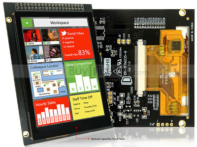 3.5 Tft Lcd Display Wcapacitive Touch Panel Screenbreakout Boardtutorial
