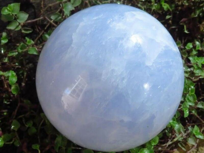 Extra Large Blue Calcite Crystal Sphere