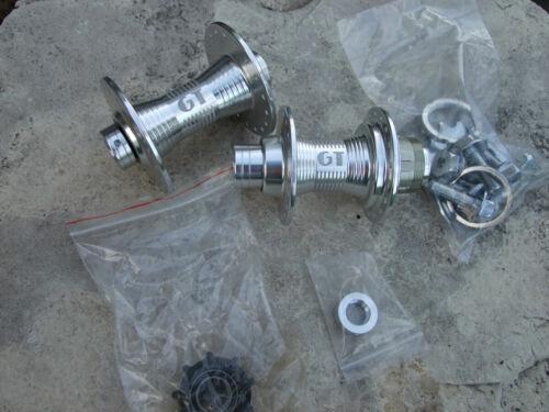 "GT Superlace, BMX Bicycle Hub Set, 36 Hole, Silver, 3/8"" Axle"