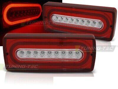 Lightbar LED Rückleuchten Heckleuchten Mercedes Benz G Klasse W463 90-12 rot/kla
