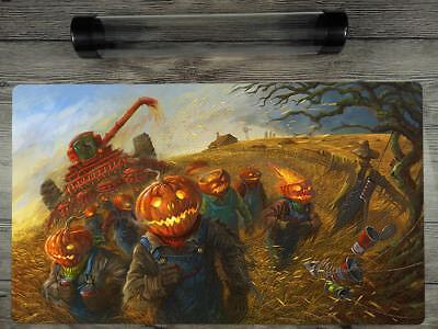 YuGiOh/VG/MTG Halloween Duel battlefield Playmat Custom TCG Mat Free Best Tube (Best Halloween Customs)