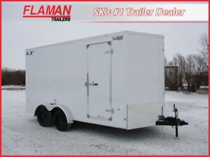 Royal Lightning 7'x16' Cargo Trailer - Ramp Door, New V-Nose!