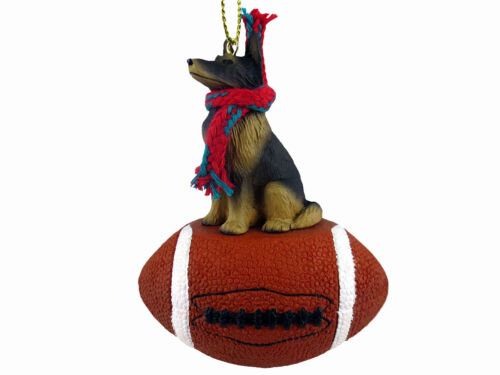 Belgian Tervuren Dog Football Sports Figurine Ornament