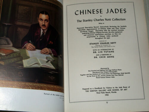 Rare Book! Stanley Charles Nott Chinese Jades, 1942 Limited Edition