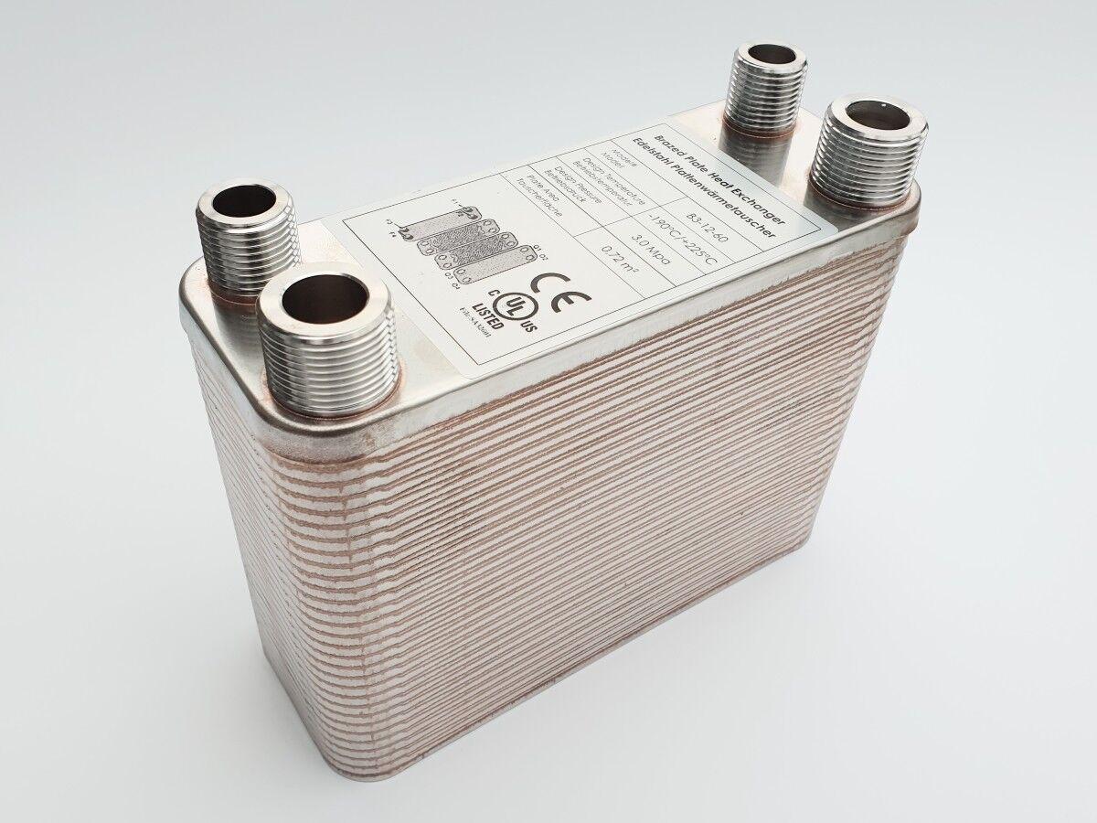 B3-12-60 Edelstahl Plattenwärmetauscher Solar Heizung bis 130 KW Solar Heizung