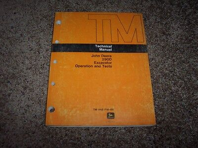 John Deere 290d Excavator Operation Test Shop Repair Service Manual Tm1442