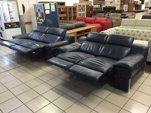 100% LEATHER 2.5 + 2 SEATER ELECTRIC RECLINER W/ADJUST HEADRESTS Logan Central Logan Area Preview