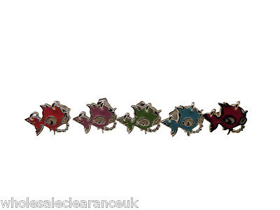 WHOLESALE JOBLOT OF 100 MIXED PUNKY FISH STUD EARRINGS
