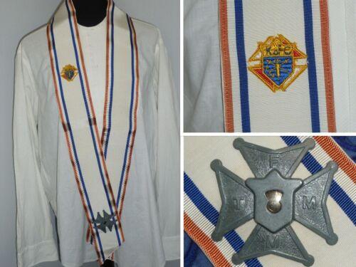 Antique c1930s Knights Of Columbus Ceremonial Sash & Band-Regalia-Memorabilia