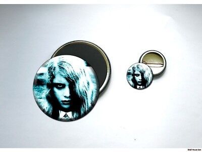 ZOMBIE LITTLE GIRL NOTLD Button and Magnet Set HORROR (Zombie Little Girl)
