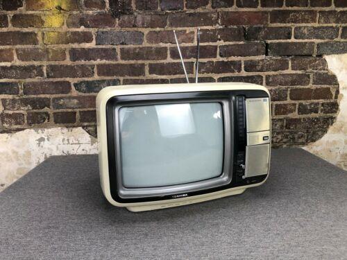 "Toshiba Blackstripe 13"" Color TV Television CRT Retro Vintage Gaming"