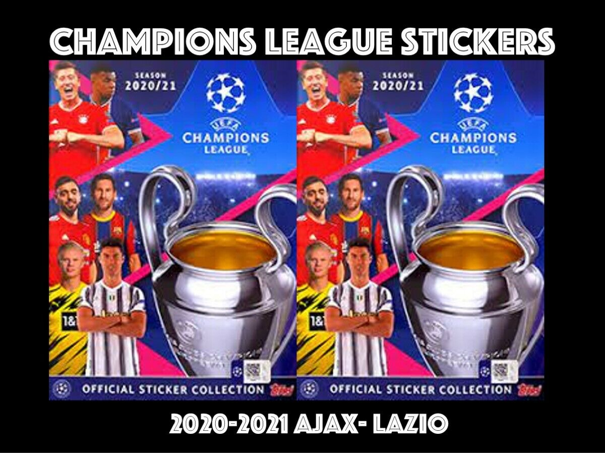 TOPPS CHAMPIONS LEAGUE STICKERS 2020-2021 20/21 AJA-LAZ