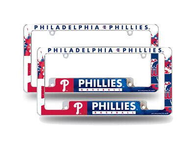 Philadelphia Phillies MLB  Chrome License Plate Frames w/ Bo