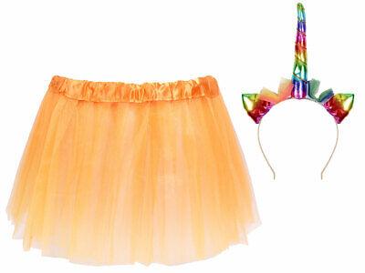 Tütü Spaß Outfit schamlose Männer  (Kv-173) Einhorn Haarreif, Tüllrock Orange