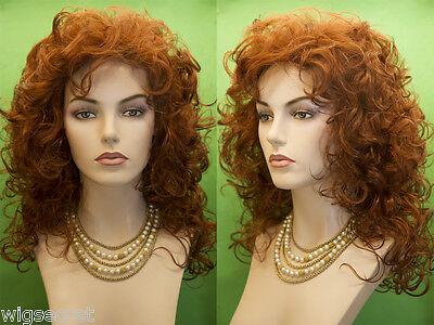 Medium Long Blonde Brunette Red Grey Curly Wigs (Long Brunette Wig)