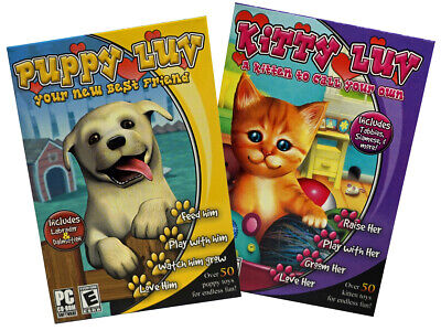 Puppy & Kitty Luv (2 PC Games) Perfect pets. They won't leave little surprises