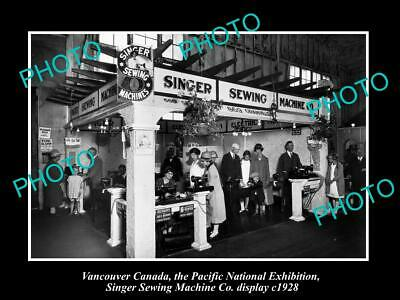 6x4 HISTORIC PHOTO OF CANADA INDUSTY, VANCOUVER, SINGER SEWING MACHINES c1928