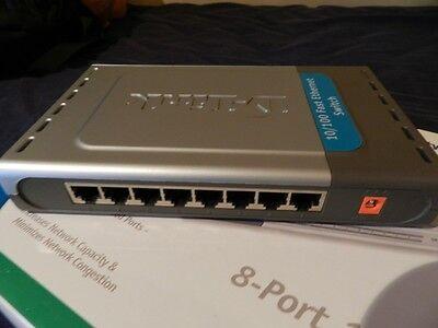 D-Link DGS-1008D 8 x RJ45 Desktop Switch 10/100/1000Mbps GB - NO PSU