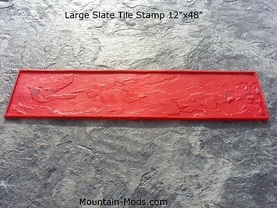 New Large Slate Tile 12x48 Floppy Texture Decorative Concrete Cement Stamp Mat