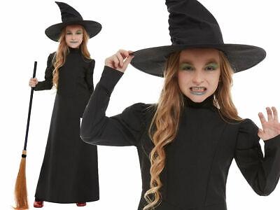 Böse Hexe Mädchen Halloween Kostüm Kinder Zauberer von oz Kinder Kostüm + Hut ()