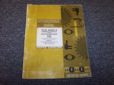 International Harvester Td20b Crawler Tractor Equipment Parts Catalog Manual