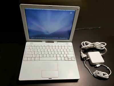 "Apple iBook G4 12.1"" A1133 (2005) Working Cond OS10.5.8 / Office 2008/ 1.5Gb Ram"