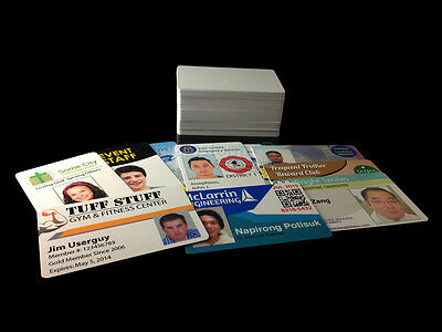 Inkjet Printable PVC Cards - For Epson & Canon Inkjet Printers - 100 Pack, used for sale  Shipping to Nigeria