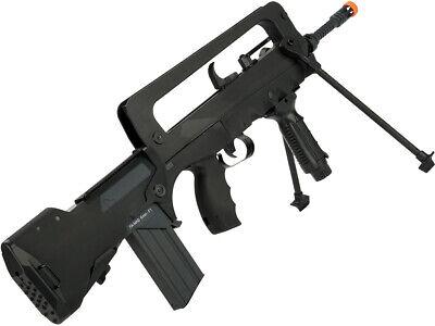 Fully Licensed F1 FAMAS Bullpup Airsoft AEG Rifle w Metal Gears / Barrel / Bipod