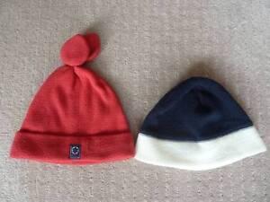 Kids Fleece Beanie Hats x2: 1-2yrs. NEXT & TESCO. Claremont Nedlands Area Preview