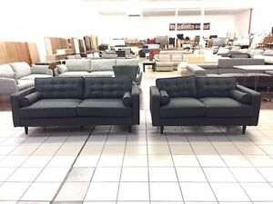 HARRY 3 + 2 SEATER CHARCOAL Logan Central Logan Area Preview